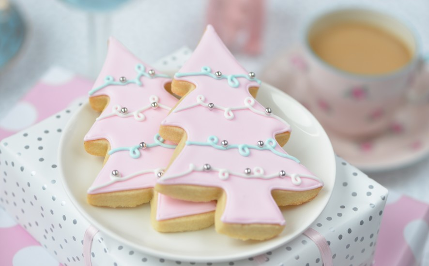 Pastel Christmas Par Tea Pink Tree Sugar Cookie Recipe